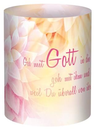 Geh mit Gott... Mini-Tischlicht