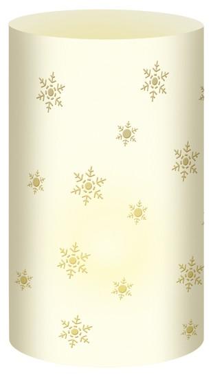 Schneeflocke Creme Mini-Tischlicht