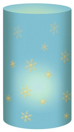 Schneeflocke Türkis Mini-Tischlicht