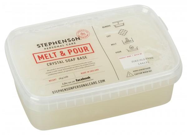 Glycerinseife Crystal ST SLES+SLS frei im Schmelzbehälter