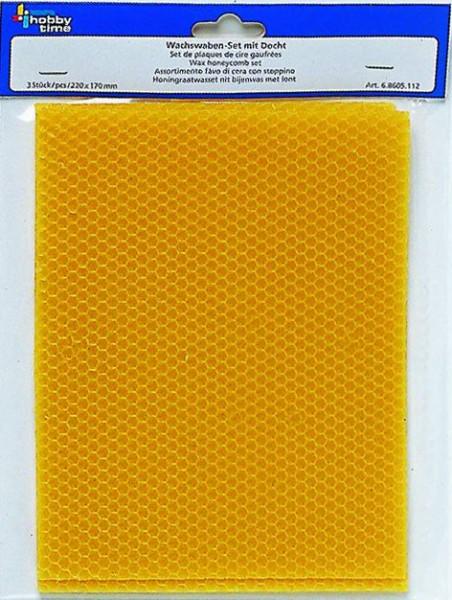 Wachswaben Set natur aus Bienenwachs