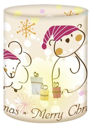 Merry Chrismas Bär Mini-Tischlicht
