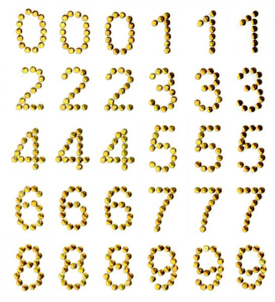 Zahlen in Gold