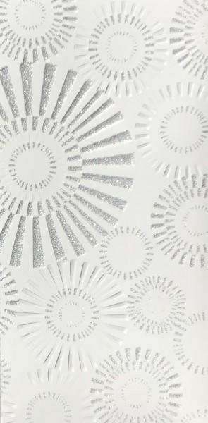 Verzierwachs Spiegel weiß/silber