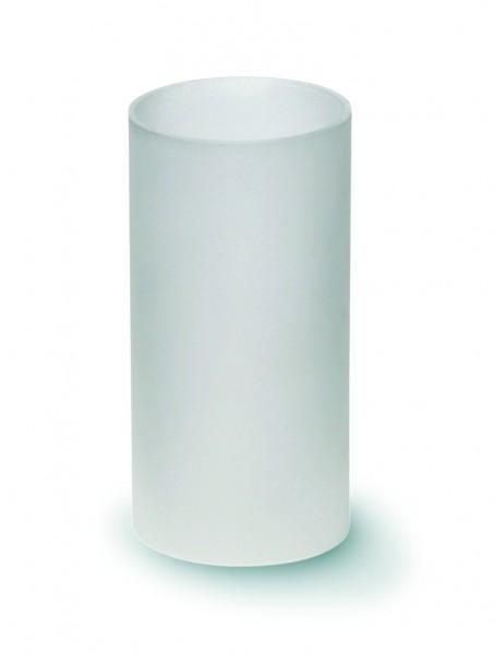 Glaszylinder für Teelichthalter gefrostet
