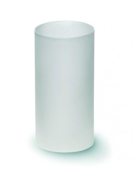 Windlichtglas matt mit Boden