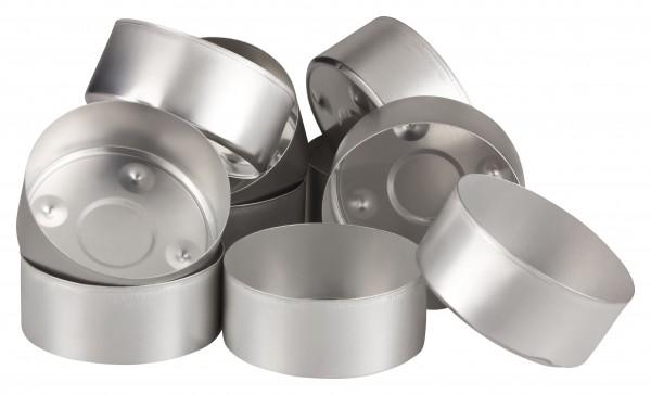 Aluminium Klein-Teelichthülsen 10 Stück