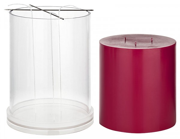 3-Docht-Kerzengießform