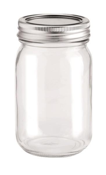 Glas mit 2-tlg Deckel 420 ml