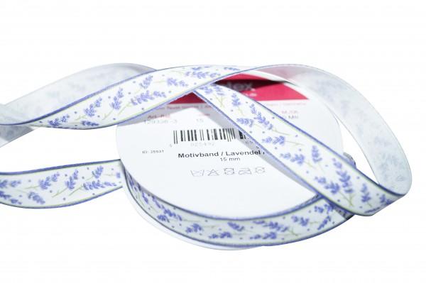 Motivband Lavendel 15 mm