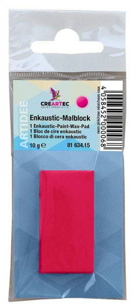 Enkaustic Metallicfarbe neon pink