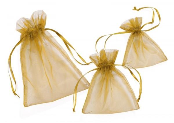 Organza-Säckchen gold M