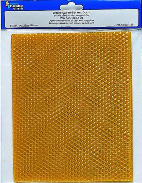 Wachswaben Set aus Bienenwachs