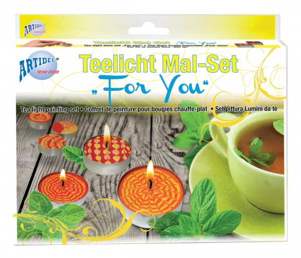 Teelicht Mal-Set - For You