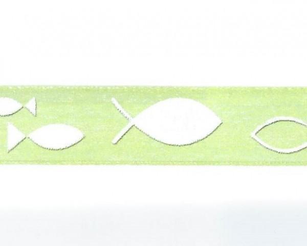 Chiffonband Fische hellgrün