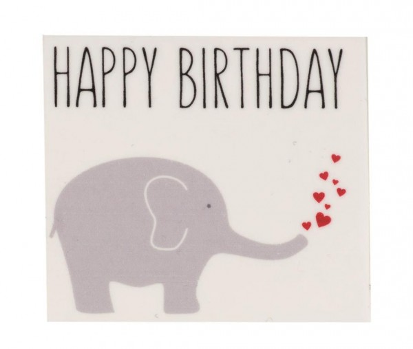 Elefant Happy Birthday