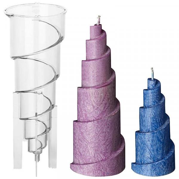Spiralenpyramide Kerzengießform